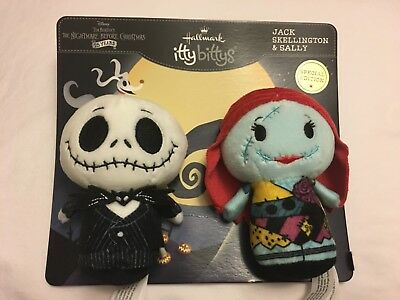 Hallmark Itty Bittys Jack Skellington and Sally Limited Edition The Nightmare
