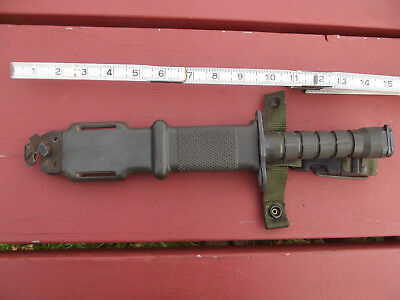 Lan-Cay M-9 Bayonet U.s. Military Combat Fighting Knife W/ Scabbard Olive Green