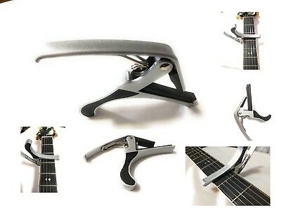 Guitar Capo Quick Change Acoustic Guitar Silver Trigger Capo Key Clamp USA