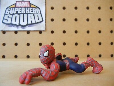 Marvel Super Hero Squad SPIDER-MAN Crawling Crawl Red / Blue Silver Web Lines