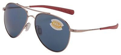 Costa Del Mar Cook Sunglasses COO-164-OGP Rose Gold 580P Grey Polarized Lens