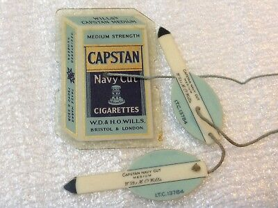 Vintage 40/50s Advertising Capstan Tobacco Lawn Bowls Measure. Perfect!