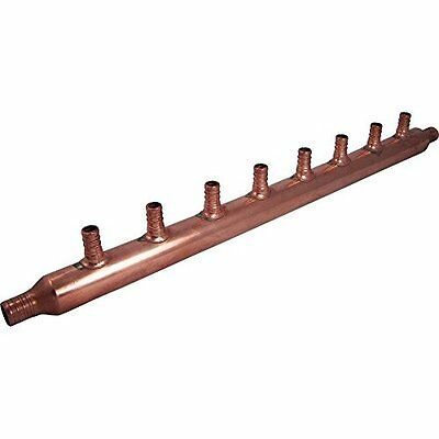 TubingHoses 22790 8-Port Open Copper PEX Manifolds, 1-Inch Trunk, 3/4-Inch,