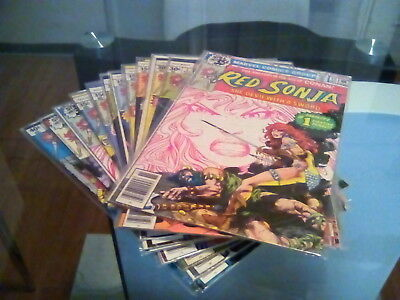 RED SONJA SHE DEVIL WITH A SWORD #2-15 LOT 1977 Marvel