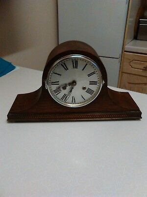 1920's German 'Napoleon Hat' Mantle Clock - Working with Key (1252)