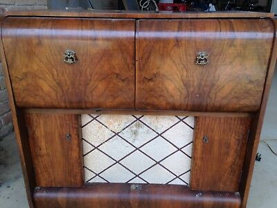 HMV RECORD PLAYER / RADIO 1950's For Parts / Or Repair. Not Working.