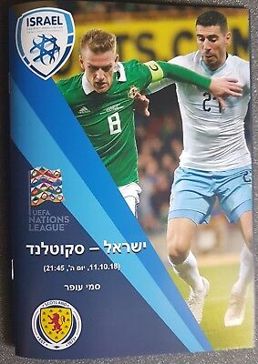 UEFA NATIONS LEAGUE ~ ISRAEL v SCOTLAND ~ 11/10/2018  ~ UNOFFICIAL PROGRAMME