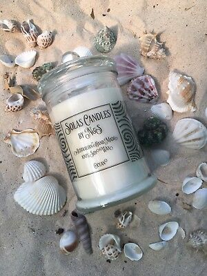 "Candle- ""Ocean"" Scent (100% Natural Soy Wax) - Large"