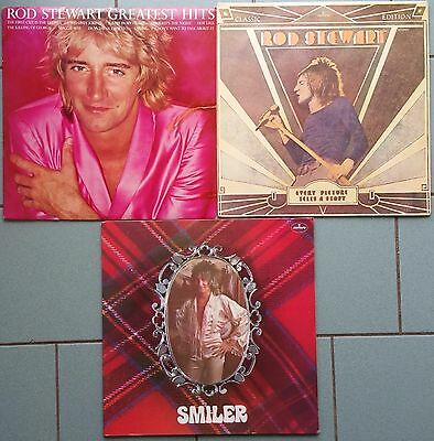 ♫ 3 classic ROD STEWART albums  -vinyl is in good and excellent condition ♫
