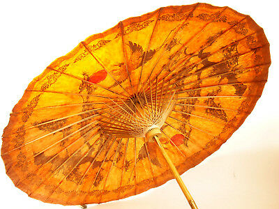 JAPANESE PARASOL      traditional bamboo and hand lacquered paper