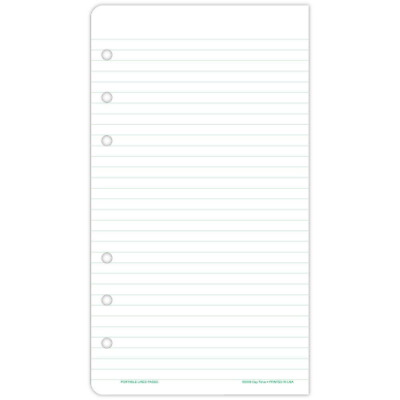 Day-Timer 87128 Lined Note Pads for Organizer, 3 3/4 x 6