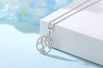 Tree of Life Pendant ,100% Real 925 Sterling Silver , Necklaces For Women