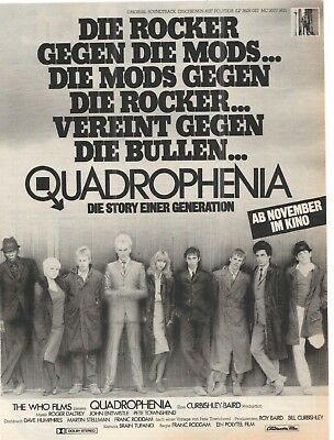 QUADROPHENIA - the WHO - Cinema - Kino - music - advert - historische Reklame