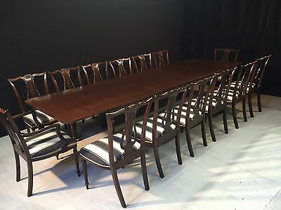 12ft EXQUISITE REGENCY STYLE BRAZILIAN MAHOGANY GRAND TABLE PRO FRENCH POLISHED