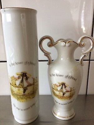 A LOT OF VINTAGE HOLLY HOBBIE ITEMS - Two Vases