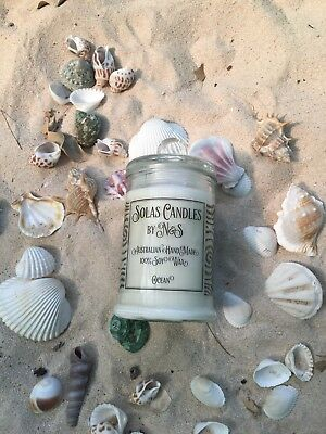 "Candle - ""Ocean"" Scent (100% Soy Wax) - Small"