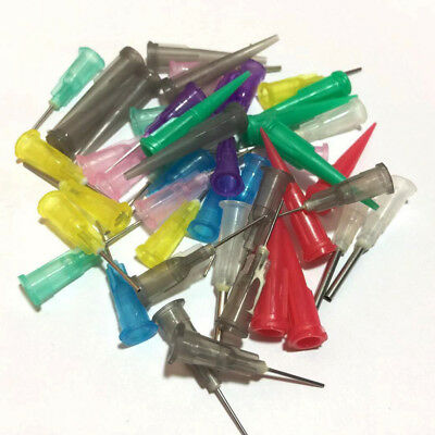 35Pcs Dispensing Needle Tip For Liquid Dispenser Adhesive Glue Syringe