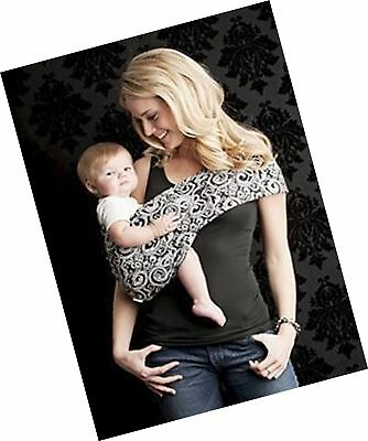 47445bbb5d9 Seven Everyday Slings Baby Carrier Sling Color Black White Indy Size  6 XLarge