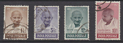 India 1948 1st Anniv of Independence (Ghandhi ) set good used