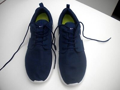 NIKE  Navy Blue and white trainers in size 10uk worn only the once