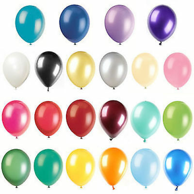 """10"""" METALLIC/Pearlised High Quality LATEXBALLOONS (Decoration/Birthday/Party)NEW"""