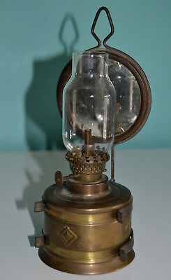 Rare ancienne petite lampe avec miroir - Rare old small lamp with mirror