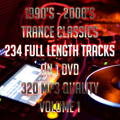 (DVD) 1990's-2000's Trance Classics Volume 1 - 234 Full Length Tracks - 320 MP3