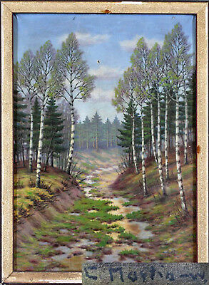 Unclear, River in the forest Landscape oil painting 99860130