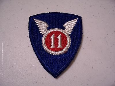11th Airborne/Air Assault Division shoulder patch; PRE-1968 blue cut edge SSI