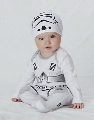 Star Wars Stormtrooper babygrow sleep suit 3-6 Months Romper The Force Awakens