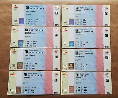92 Barcelona 8 New  Olympics Basketball Tickets Dream Team Usa 92 Final Women