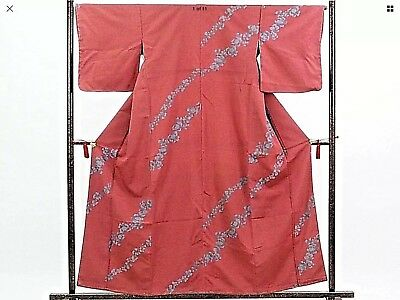 New Japanese Clothing Traditional Silk Kimono with Flower Blossom Pattern