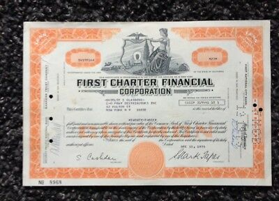 First Charter Finanzial Corporation, Los Angeles or New York