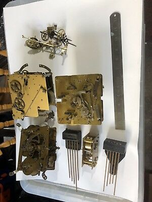 Antique mantle And Wall Clock Parts