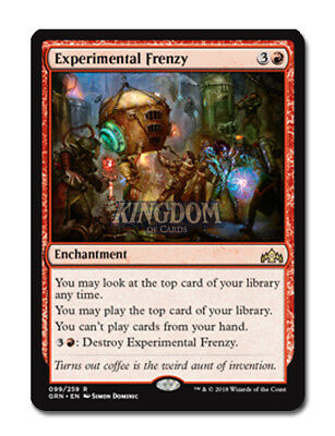 Experimental Frenzy - Guilds of Ravnica - NM - English - MTG