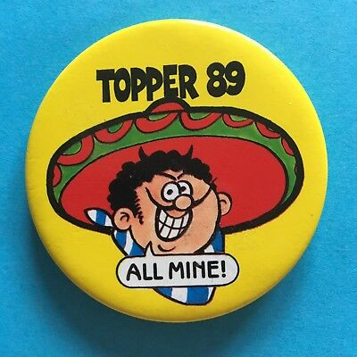Topper Comic Character Figaro Mexican Bandit Pin Badge (see pics) Topper '89