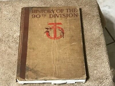 WW1 U.S. 90th Division Unit History Book - Free Shipping