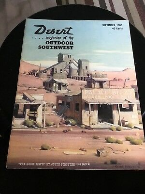 Desert Magazine of the Outdoor Southwest. 4 issues of 12 of year 1960 vintage