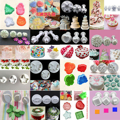Cookies Plunger Cutter Fondant Cake Decor Mould Biscuit Pastry Sugarcraft Mold