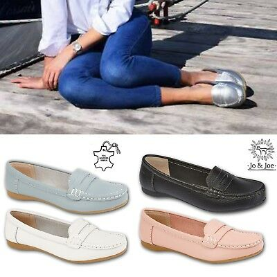 Womens Ladies Leather Slip on Loafer Tassel Penny Casual Women Low Wedge Shoes