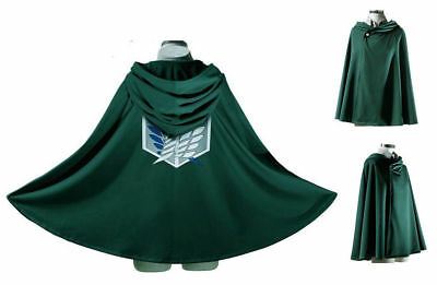 EMIDO Japan Anime Shingeki No Kyojin Cloak Attack on Titan Cosplay Cloth Green