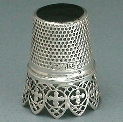 Antique Lacy Band Silver Thimble * Germany * Circa 1900s