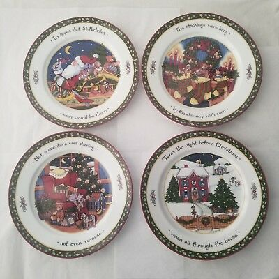 Portmeirion A Christmas Story by Susan Winget Set of 4 Dinner Plates Series 1