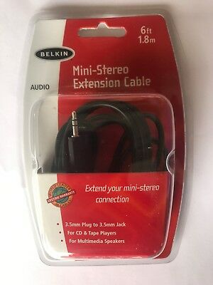 Belkin Mini-Stereo Extension Cable 6ft