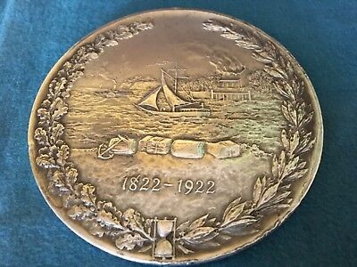 """1922 North River Insurance Co. 100th Anniversary 4"""" sterling silver clad coin"""