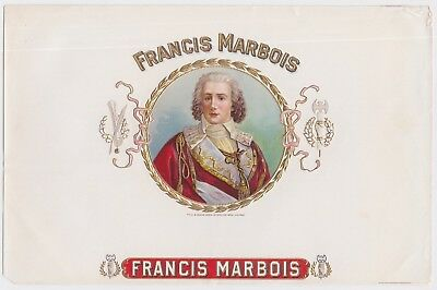 Antique Cigar Box Label - Francis Marbois - Early 1900's