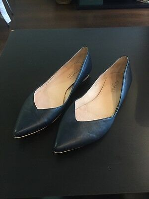 Hobbs Leather Flats Shoes Size 38 / 5