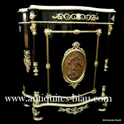 French Cabinet stamped DIEHL PARIS Boulle marquetry 19th Napoléon III period