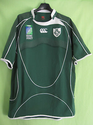 Maillot rugby Irlande World cup 2007 Canterbury Ireland vintage Eire Jersey - L