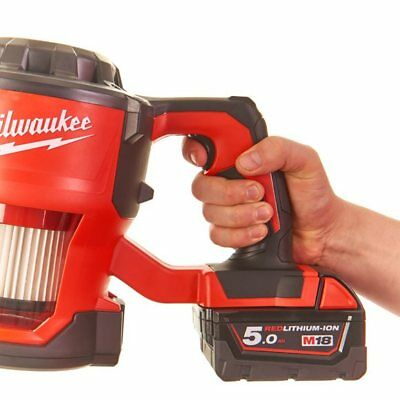 Milwaukee M18 Cv Rechargeable Hand Vacuum Cleaner 4933459204 without Battery
